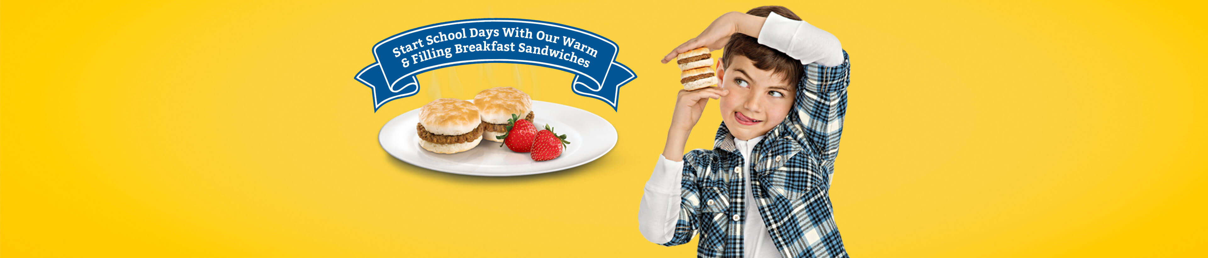 Start school days with our warm and filling breakfast sandwiches.
