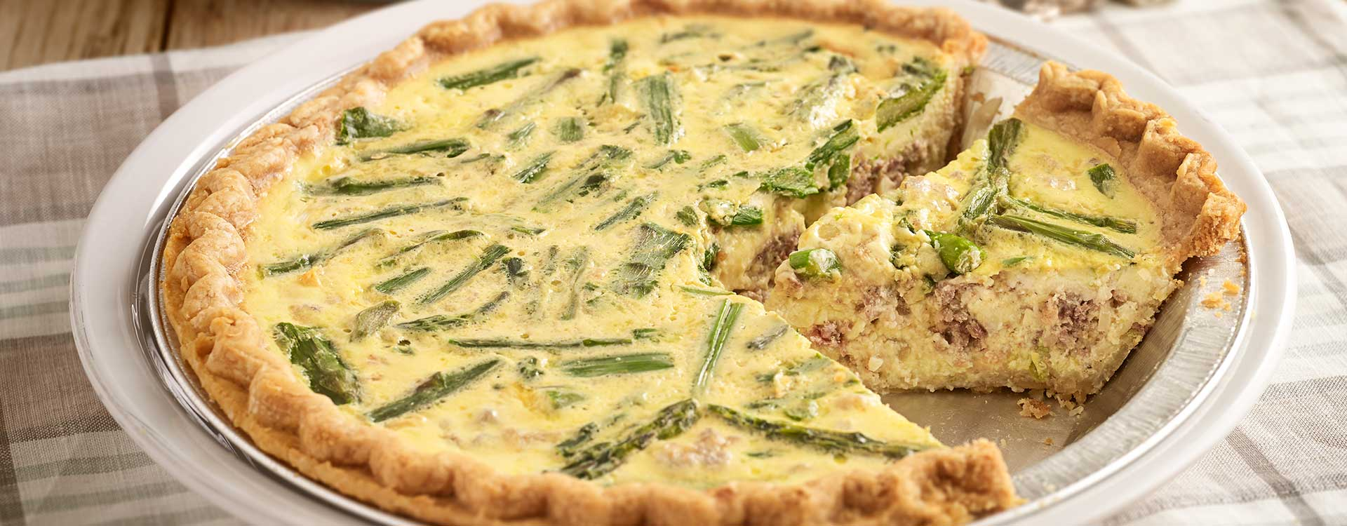 Hero - Sausage and Asparagus Quiche